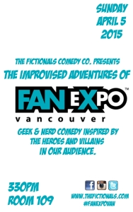 Improvised Adventures of Fan Expo Vancouver 2015 poster