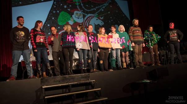 Improv Against Humanity Ugly Christmas Sweater